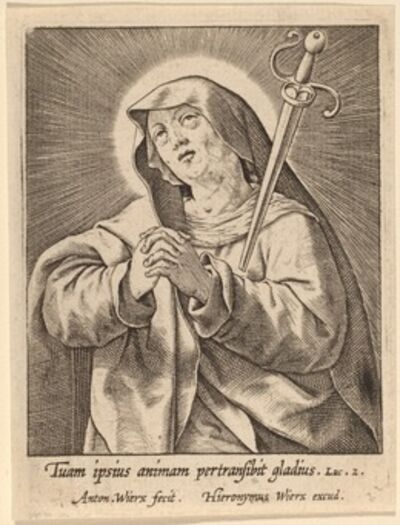 Antonie Wierix, 'Tuam ipsius animam ...'