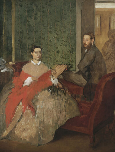 Edgar Degas, 'Edmondo and Thérèse Morbilli', ca. 1865