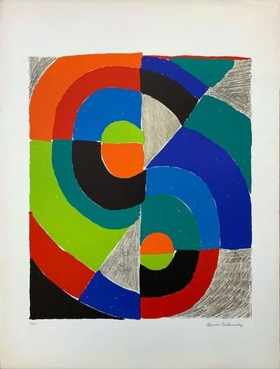 Sonia Delaunay, 'Composition orphique ', 1972