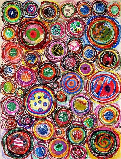 Pacita Abad, 'Colorful plaids', 2003