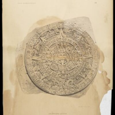 José María Velasco, 'Calendario Azteca', 1890