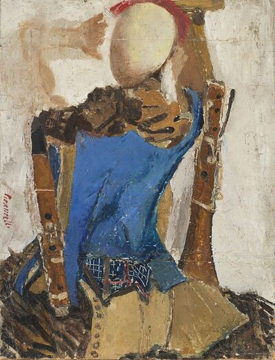 Fausto Pirandello, 'Natura morta con manichino', 1947
