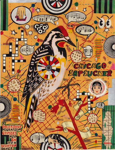 Tony Fitzpatrick, 'Lunch Drawing #34 (Chicago Sapsucker)', 2104