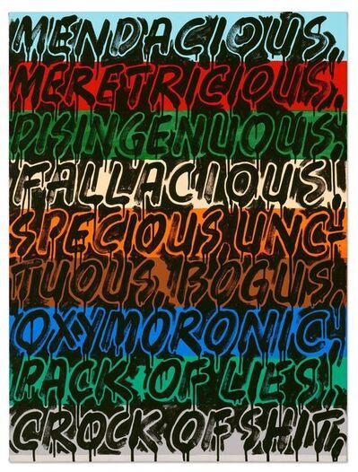 Mel Bochner, 'Mendacious', 2012