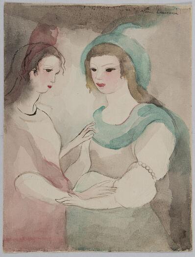 Marie Laurencin, 'Deux jeunes femmes, rose et vert', 1949