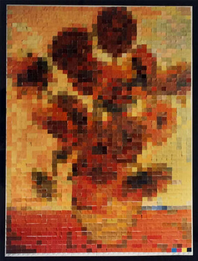 Vik Muniz, 'Sunflowers (after Vincent Van Gogh, from Pictures of Color)', 2004