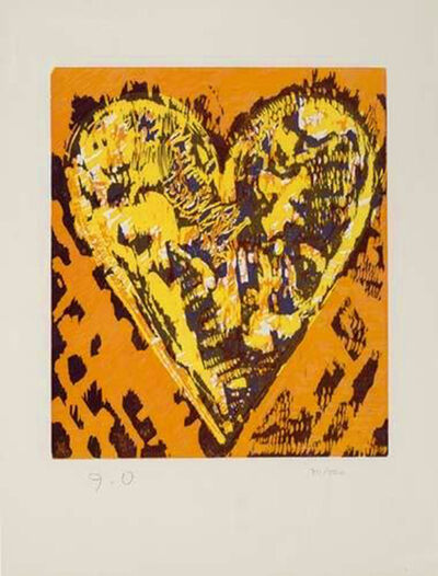 Jim Dine, 'Woodcut Heart', 1993