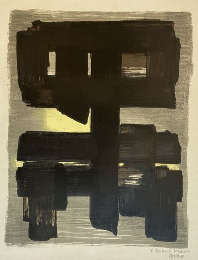 Pierre Soulages, 'Lithographie no.1', 1957