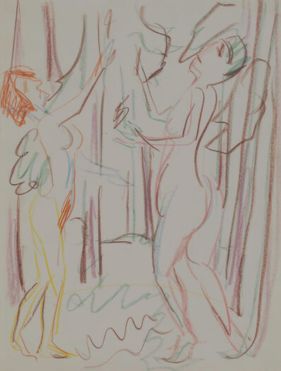 Ernst Ludwig Kirchner, 'Spielende nackte Frauen im Wald (Naked Woman playing in the Forest)', 1925