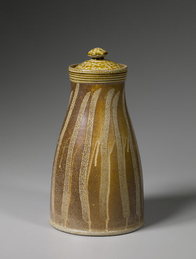 Mark Hewitt, 'Lidded jar, kaolin slip with alkaline glaze neck and lid and finger swipes', 2016
