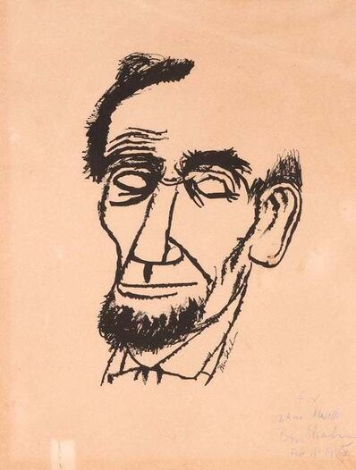 Ben Shahn, ' Portrait of Lincoln', 1955