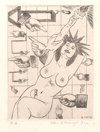 Allan D'Arcangelo, 'Statue of Liberty ', 1962