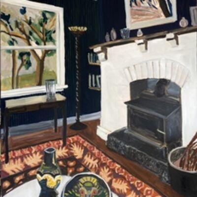 Kate Nielsen, 'Living Room With Orange Rug', 2021