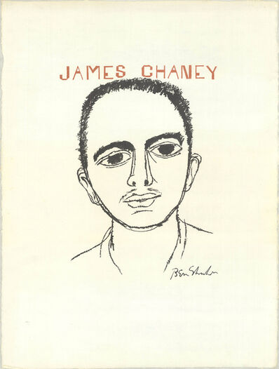 Ben Shahn, 'Human relations series -James Chaney', 1965