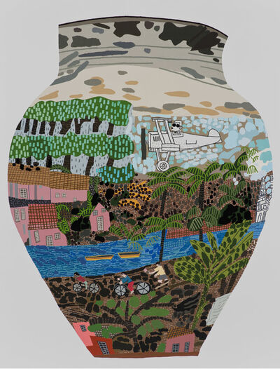 Jonas Wood, 'Frimkess Chilean Landscape Pot', 2015
