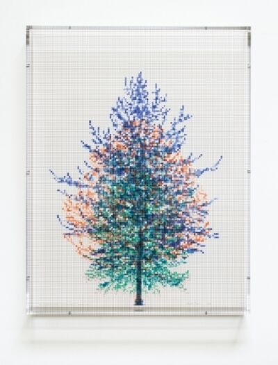 Charles Gaines, 'Numbers and Trees, Tiergarten Series 3: Tree #1 April, Tree #2 May, Tree #4 July, Tree #6 September', 2018