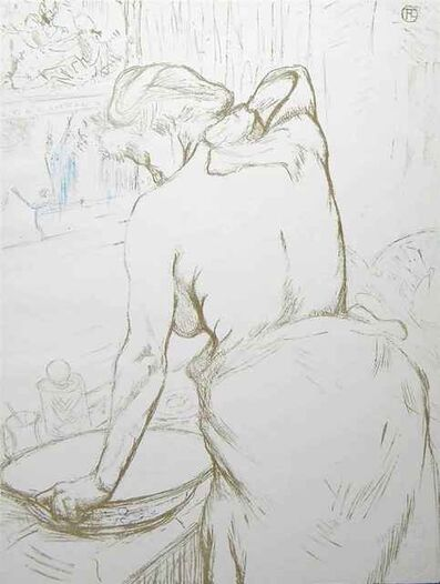 "Henri de Toulouse-Lautrec, '""Femme Qui Se Lave"" ( Woman Washing Herself)', 1969"