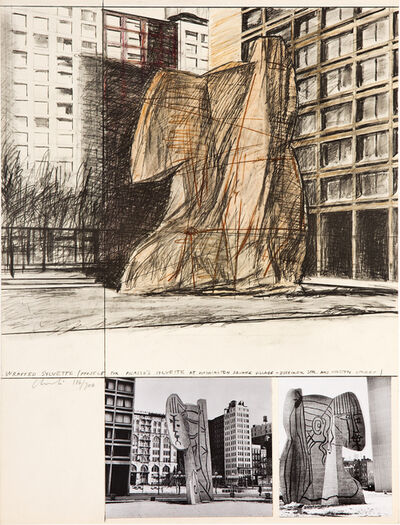Christo, 'Wrapped Sylvette', 1972