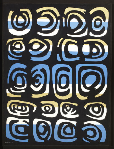 María Freire, 'Black and Blue Capricorn XXXV', 1965