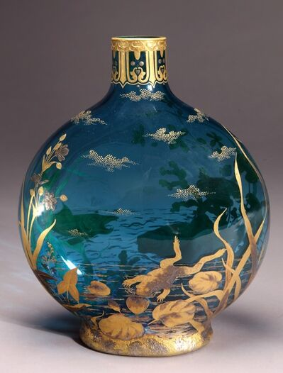 Thomas Webb & Sons, 'Moon Flask', ca. 1890