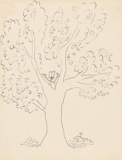 Saul Steinberg, 'Reader in a Tree'