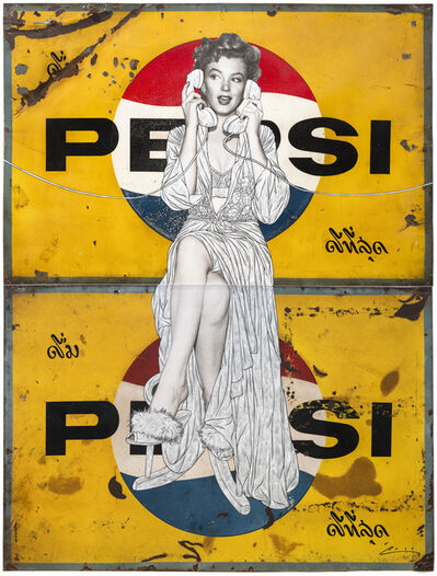 Pakpoom Silaphan, 'Marilyn Makes Connections on Thai Pepsi', 2014