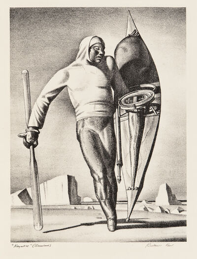 Rockwell Kent, 'Greenland Hunter, alternatively titled Kayaker', 1933