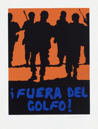Rupert Garcia, '¡Fuera del Golfo!', 1991