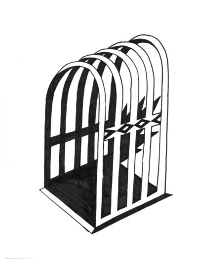 Ryan Bock, 'Cage  fig. 2', 2018