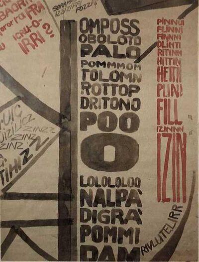 """Fortunato Depero, '""""OMPOSS/OBOLOTO/PALO...""""', 1916"""
