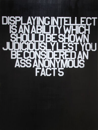 Thomas Stevenson, 'Fact 5 (18 Anonymous Facts)', 2016