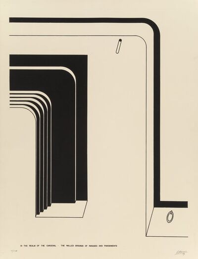 Robert Morris (b. 1931), 'The Walled Grounds of Parade and Punishments, from In the Realm of the Carceral', 1979