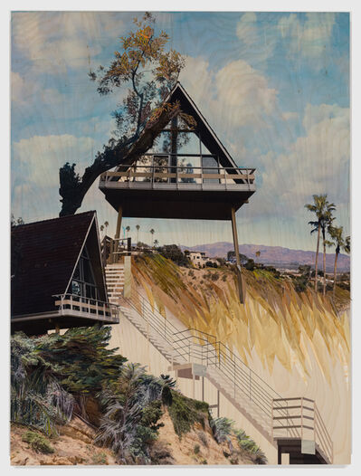 Cheryl Molnar, 'A-frame House, Climbing', 2020