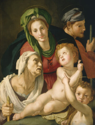 Agnolo Bronzino, 'The Holy Family', 1527-1528