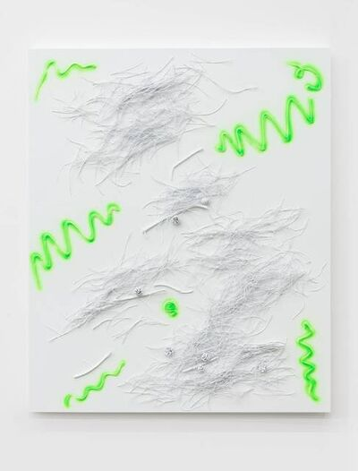 Yang Xinguang, 'Above the Soil (Fluorescent Green No. 3)', 2019
