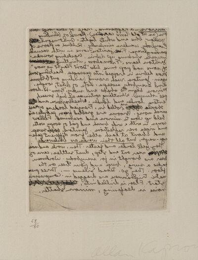 Allan Kaprow, 'Untitled'