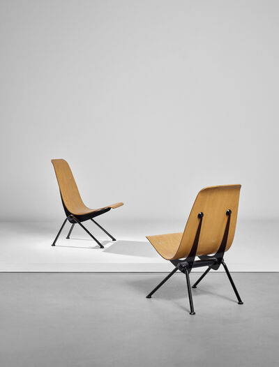 Jean Prouvé, 'Pair of 'Antony' chairs, model no. 356', designed 1954