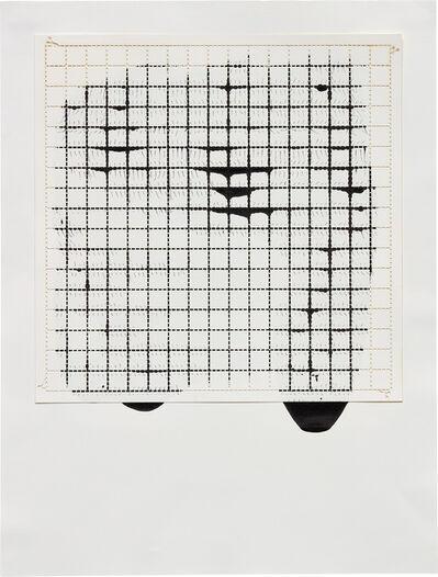 Analía Saban, 'Ink on Paper, Offset: Grid #2', 2010