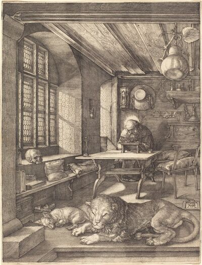 Albrecht Dürer, 'Saint Jerome in His Study', 1514