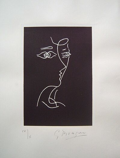 Georges Braque, 'Profil, Tir a l'Arc', 1960