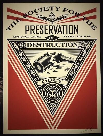 Shepard Fairey, 'Society Of Destruction ', 2015