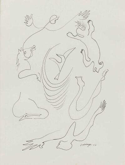 Leopold Survage, 'Acrobates et cheval', 1944