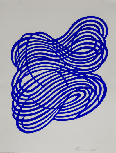 Linda Fleming, 'Gouache Wall Drawing (blue)', 2017