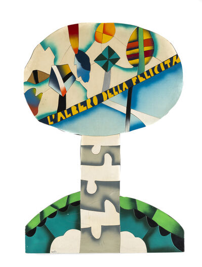 Ugo Nespolo, 'L'albero della felicità', 1972