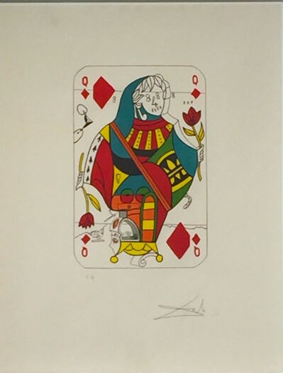 Salvador Dalí, 'Playing Cards - Queen Of Diamonds ', 1972