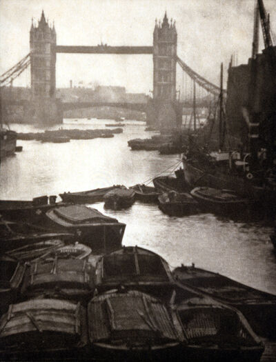 Alvin Langdon Coburn, 'Tower Bridge and Barges', 1906