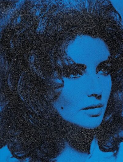 Russell Young, 'Elizabeth Taylor (Mediterranean Blue and Black)', 2011