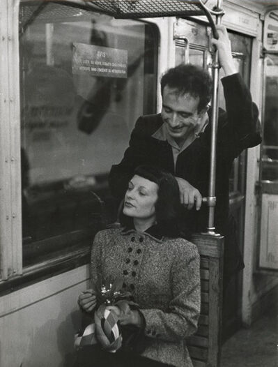 Robert Doisneau, 'Marc and Christiane Chevalier in the Paris Metro', 1953