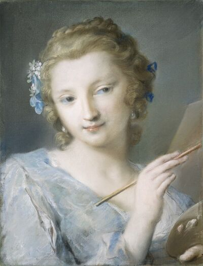 Rosalba Carriera, 'Painting', 1720/1725