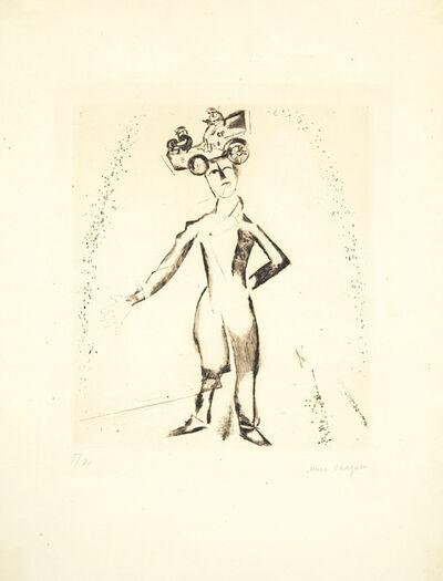 Marc Chagall, 'Der Automobilist, from Mein Leben', 1922